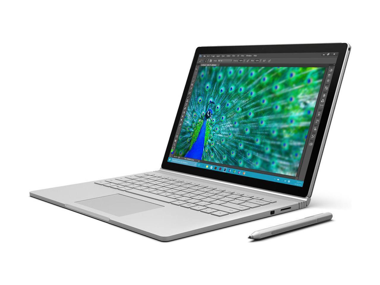 Microsoft Surface Book i7 6th Gen 8 GB Memory 256 GB SSD NVIDIA GeForce Graphics 13.5 $999