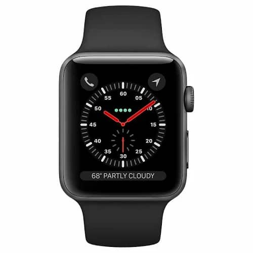 Apple Watch Series 3 - 38mm - GPS - Space Gray Aluminum Case - Black Sport Band $273