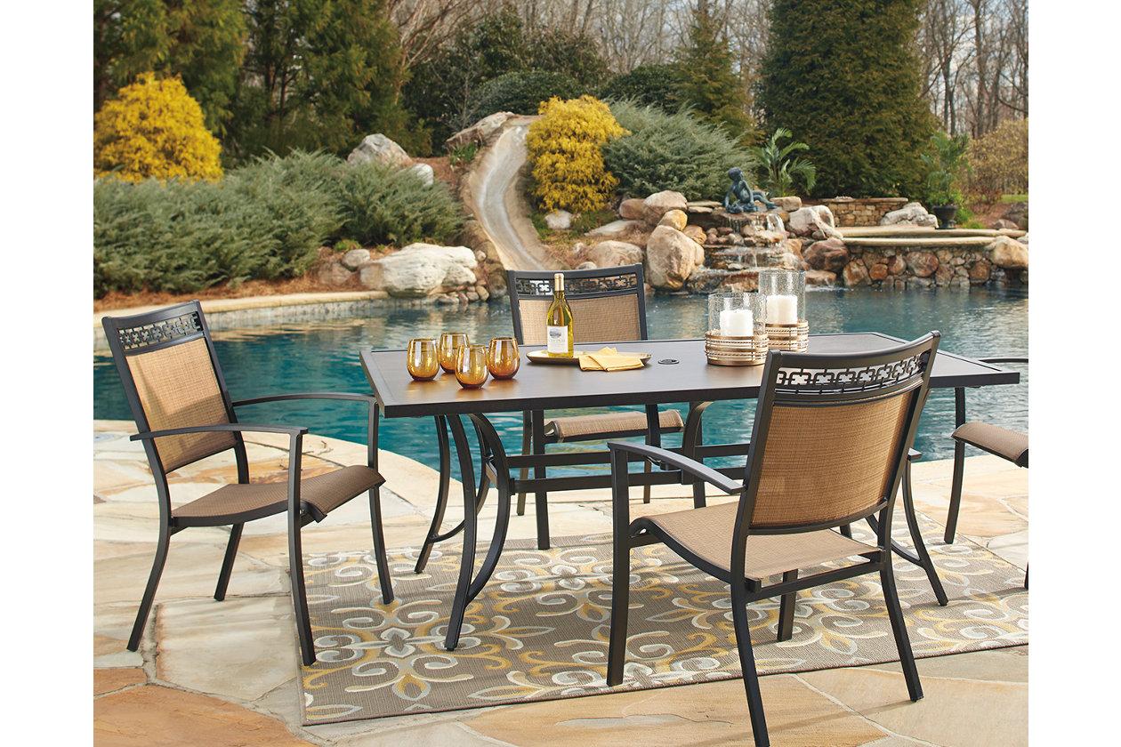 Limited YMMV B&M Columbus/Dayton/Toledo OH, Ashley Carmedilia aluminum outdoor patio sets. 5 piece rectangular $337.50, 5 piece round $300, 2 piece swivel chairs $150