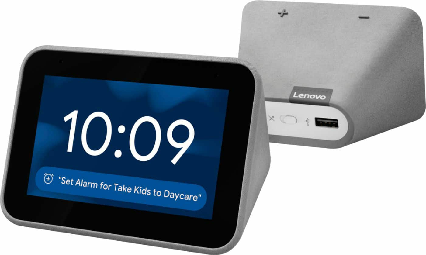 Lenovo Smart Clock with Google Assistant Gray ZA4R0002US - Best Buy