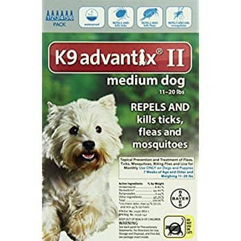 K9 Advantix II 11-20lbs 6 Month/Doses $52 Amazon.com Prime