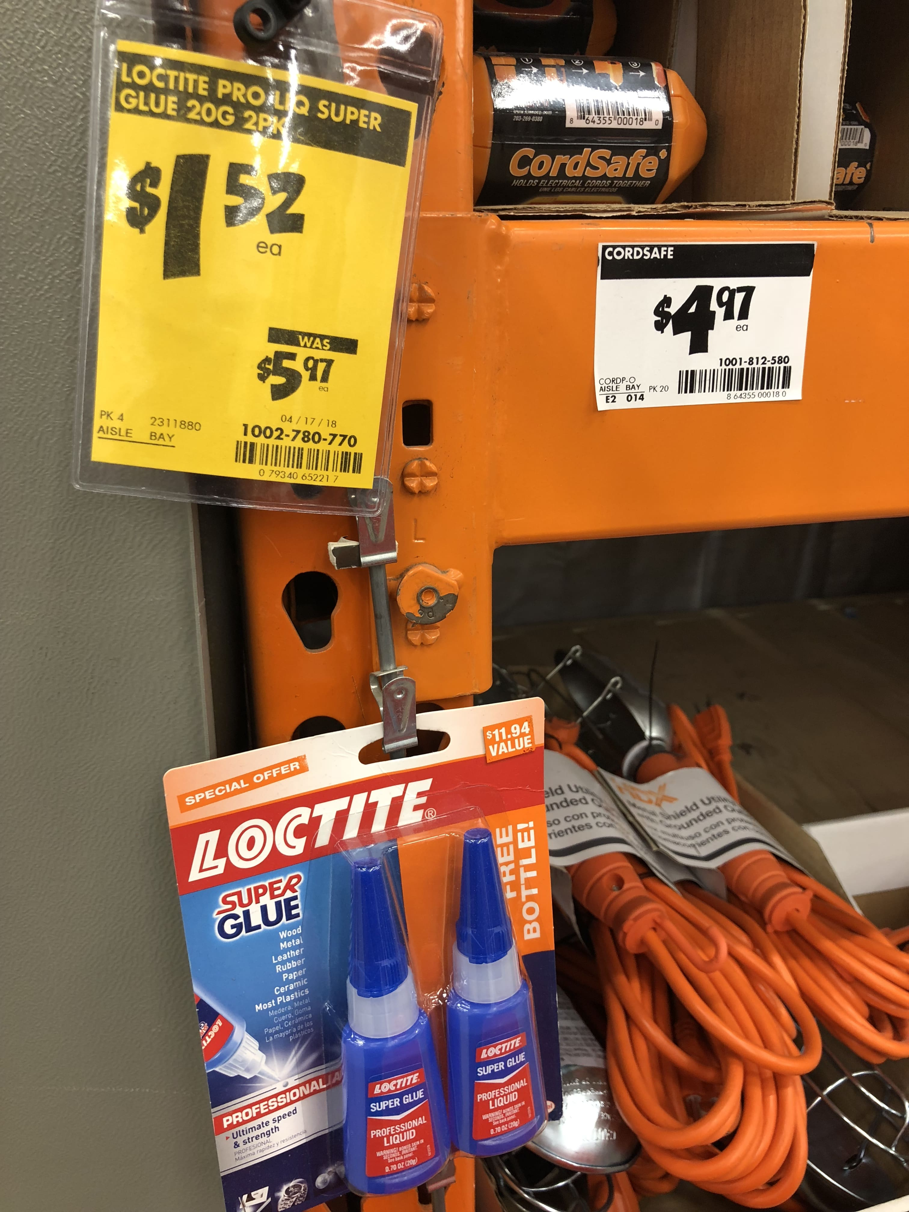 Home Depot Loce Super Glue Clearance B M Ymmv 1 52