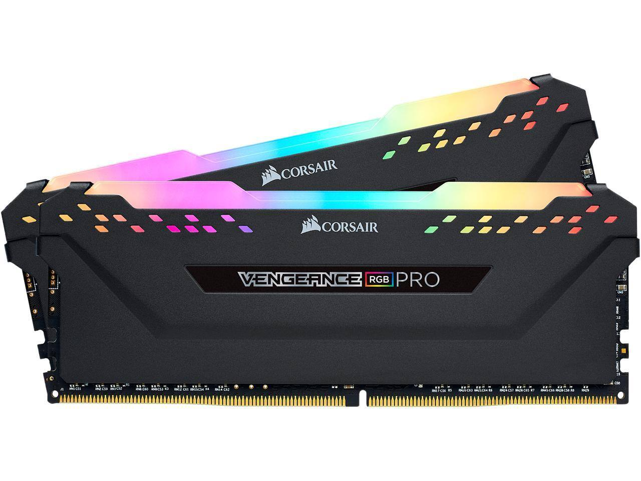 CORSAIR Vengeance RGB Pro 16GB (2 x 8GB) 288-Pin DDR4 DRAM DDR4 3000 (PC4 24000) Desktop Memory Model CMW16GX4M2C3000C15 $79.99