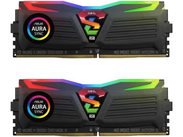 GeIL SUPER LUCE RGB SYNC AMD Edition 16GB (2 x 8GB) 288-Pin DDR4 SDRAM DDR4 3000 (PC4 24000) Desktop Memory Model GALS416GB3000C16ADC $56.98