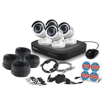 Swann 8-Channel 4-Camera 1080- Security System with 2TB HDD DVR 209.99 FS
