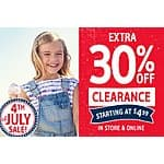 oshkosh: Take additional 30% Off on Clearance