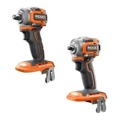 """Ridgid 18V SubCompact Brushless 3/8"""" and 1/2"""" Impact Wrench (Tool Only) $149 @ homedepot.com"""