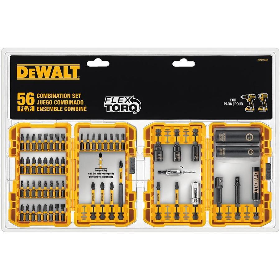 DEWALT FlexTorq 56-Piece Phillips/Square/Torx Impact Driver Bit Set $9.99 YMMV