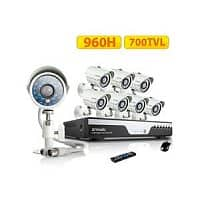 Newegg Deal: Zmodo KDC8-YARUZ8ZN-1T 8 Channel H.264 Level 960H DVR Security System with 8 x 700TVL Night Vision w/IR Cut Outdoor Cameras (1TB HDD)  $299.99@Newegg
