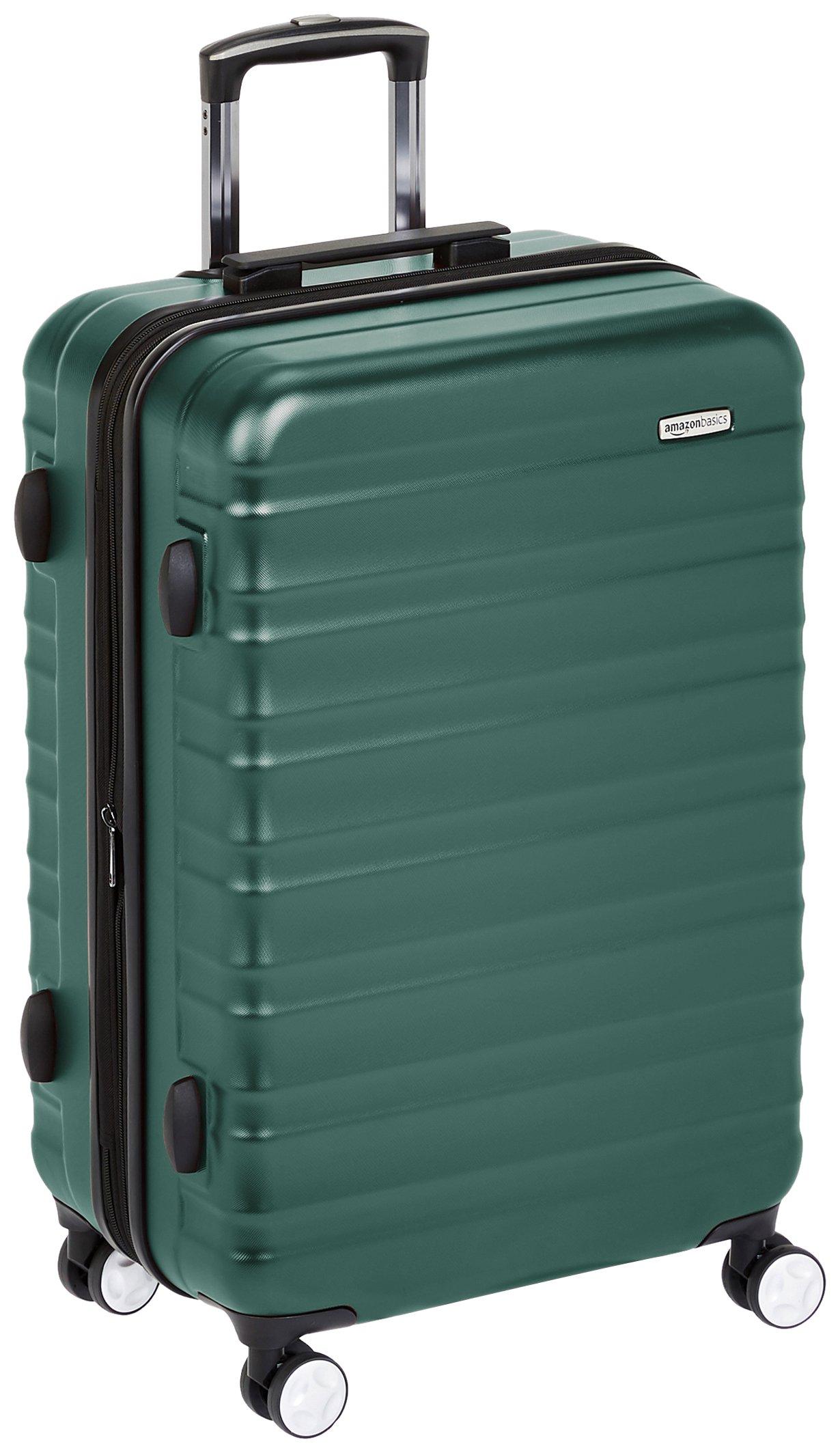 """AmazonBasics Premium Hardside Luggage- 26"""" Green $33 $34"""