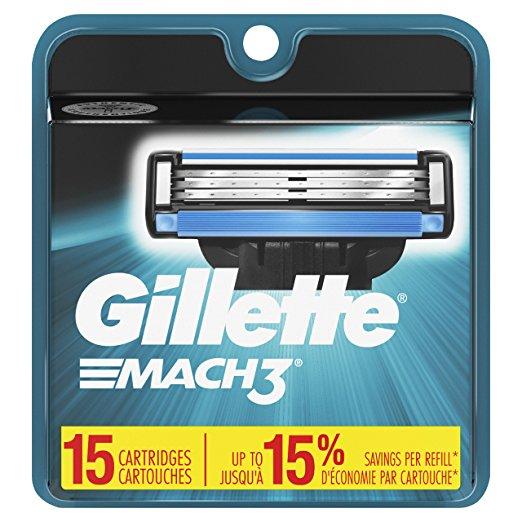 Gillette Mach3 Blades (15 Count) $19.49 ($1.30 each)