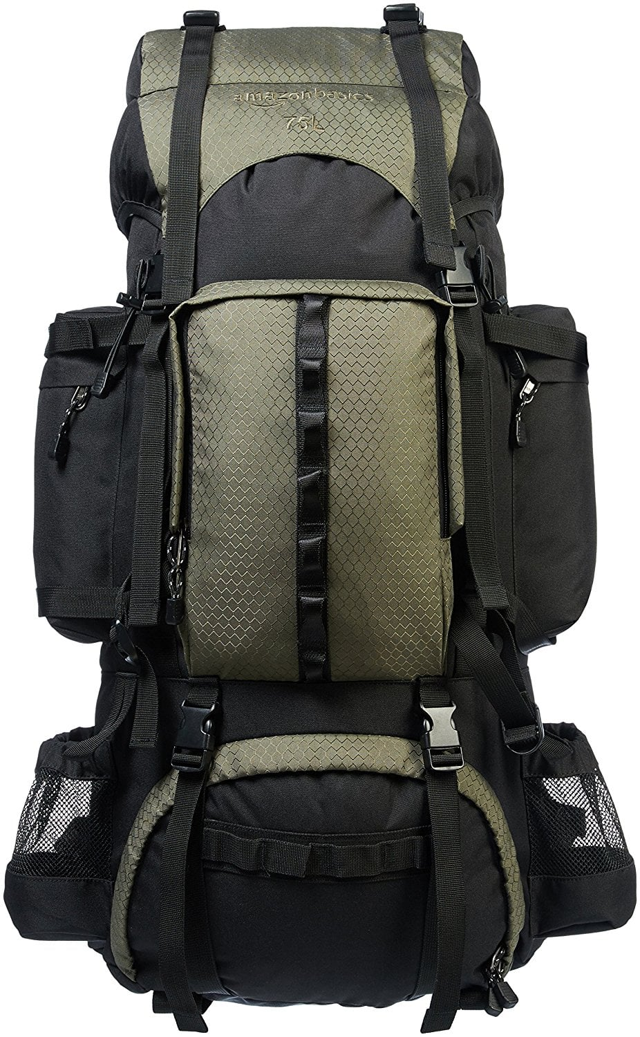 AmazonBasics 75L Internal Frame Hiking Backpack w/ Rainfly ...