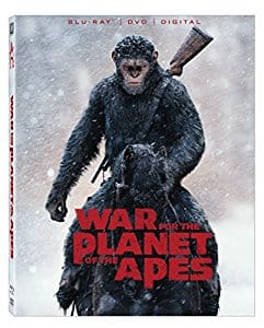 War For the Planet of the Apes Blu-Ray/DVD/Digital $7.99 at Amazon