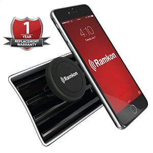 Ramkon Magnetic Universal Air Vent Mount Cell Phone Holder $5.06 / $4.16 AC  FS w/ Prime