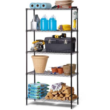 """$34.11 5 tier adjustable wire shelves zinc 36""""x16""""x72"""" with pickup"""