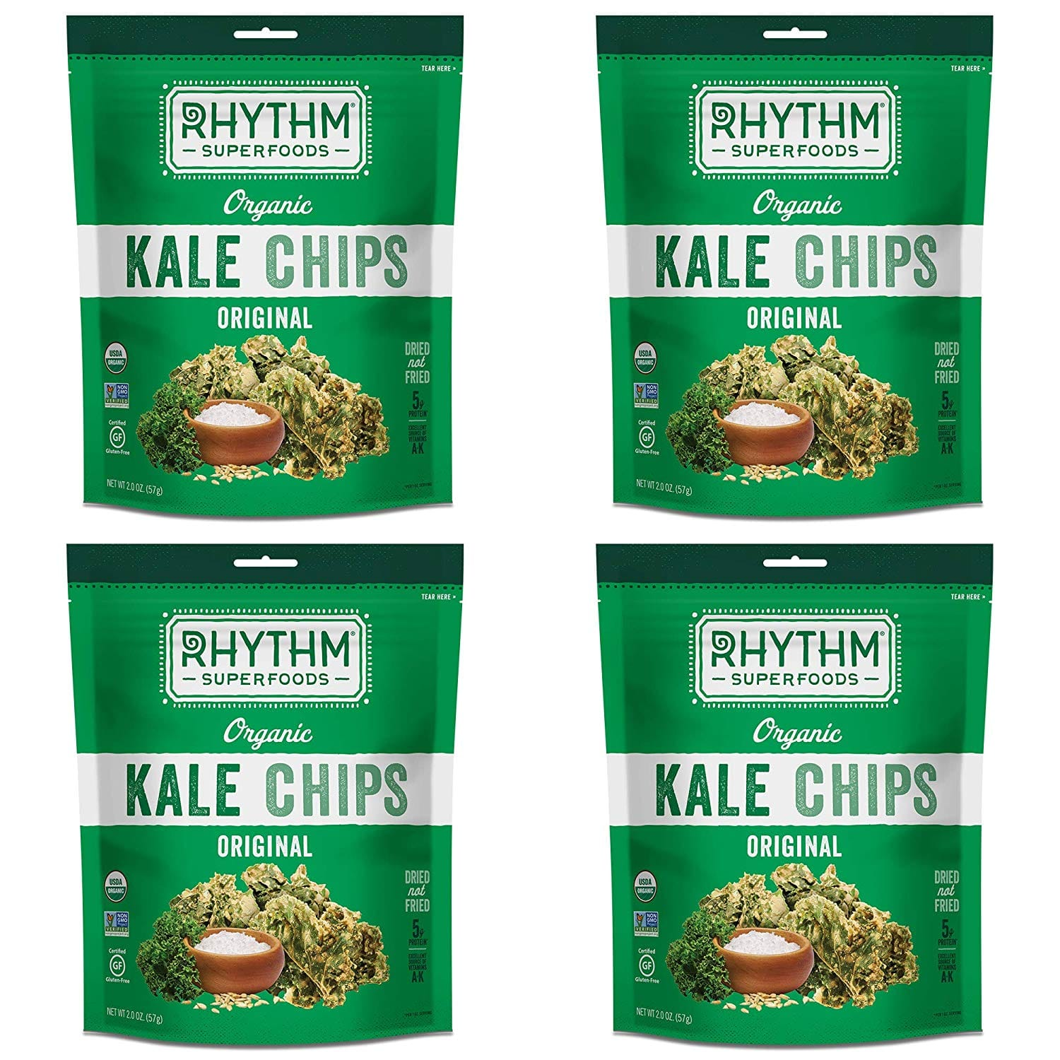 Rhythm Kale Chips $7.60 for pack of 4 S&S