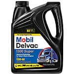 Mobil Delvac 1300 super 15w-40 diesel engine oil ~$1.00/gallon AR or possibly free (get paid back even).