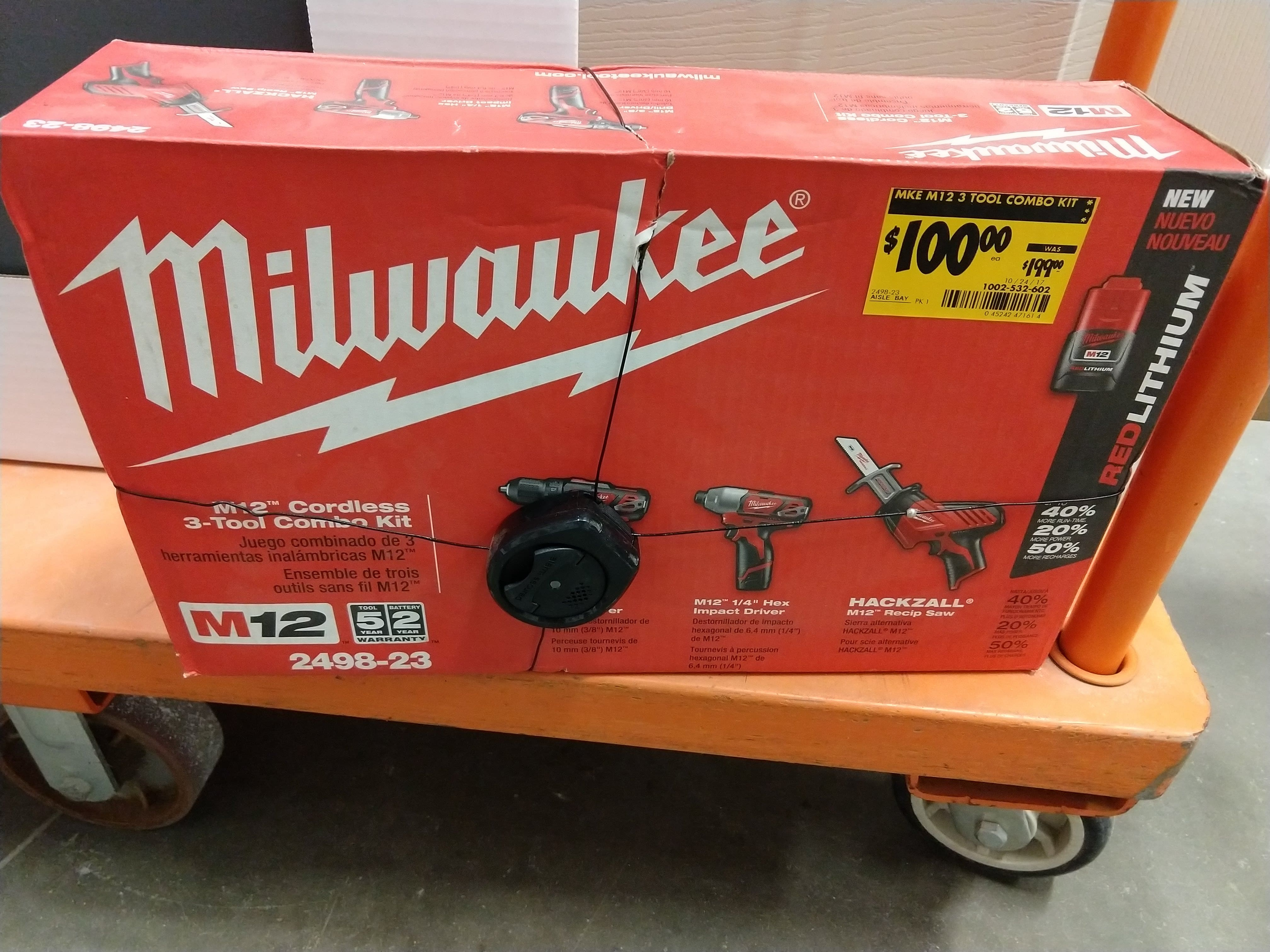 Home Depot B M Milwaukee M12 3 Tool Combo Non Fuel 100 Ymmv