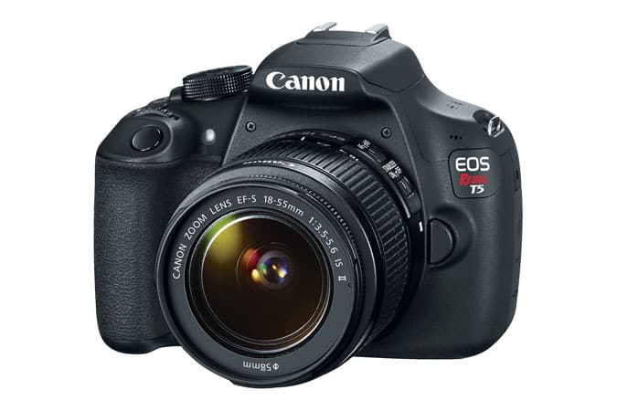 Canon Manufacturer Refurbished Rebel T5 with 18-55 IS II kit lens $199+tax