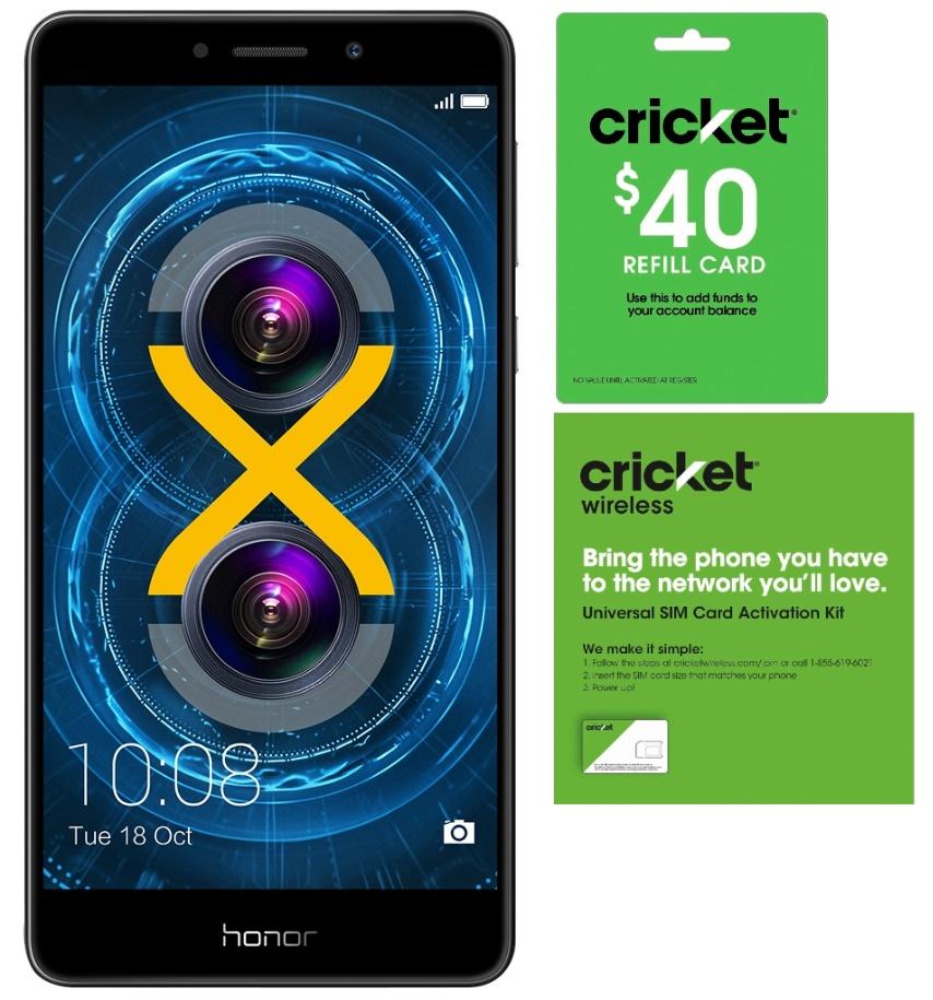 BestBuy.com has 32GB Huawei Honor 6X Unlocked Smartphone for $179.99+ $40 Cricket Wireless Refill Card + SIM Kit for $171.98