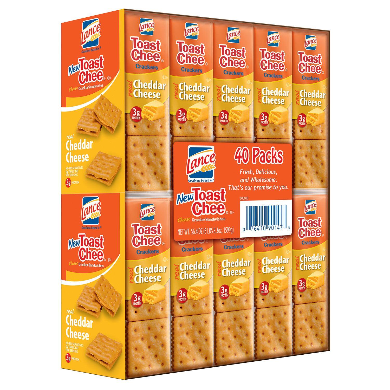 Sam's Club Lance ToastChee Cheddar Crackers 40ct $1.75 YMMV B&M