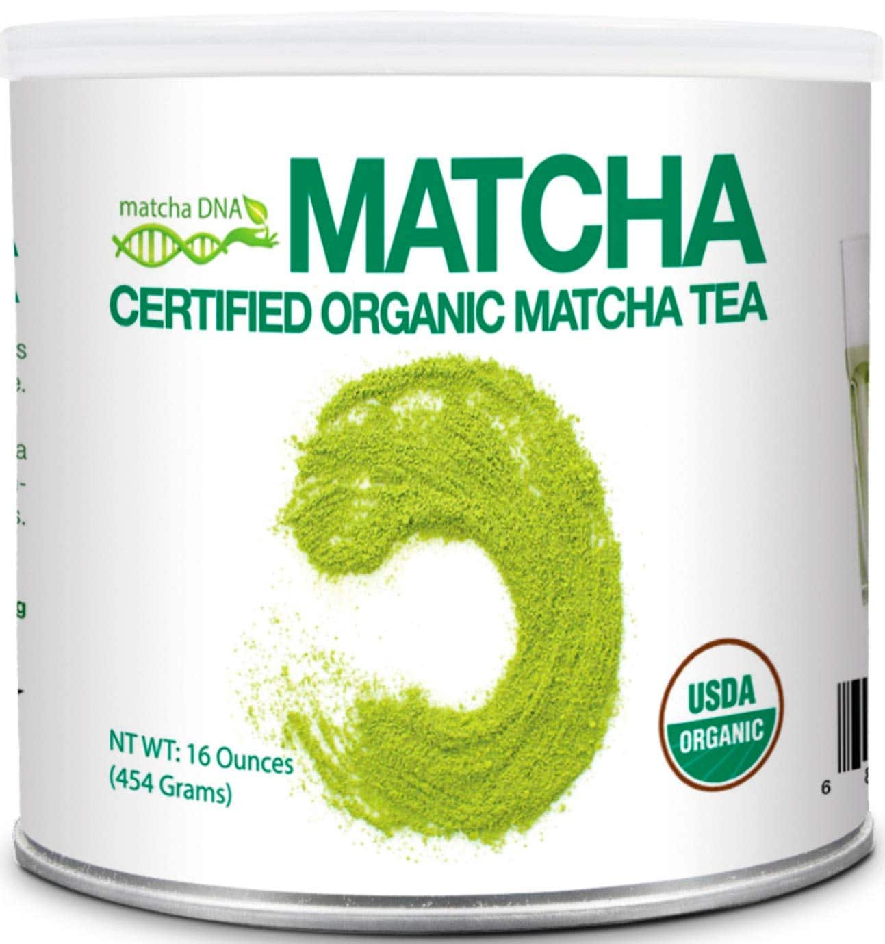 MatchaDNA 1 LB Certified Organic Matcha Green Tea Powder (16 OZ TIN CAN) $15.32 after coupon and S&S