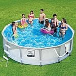 ProSeries 14' ProSeries Frame Pool Set with Mosaic Printing with Deluxe Kit (168L x 168W x 42H)  - $224