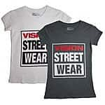 $38 Vision Street Wear Logo Cap Sleeve Women's Tee Shirt - $12 shipped or $10.80 shipped for 2 or more