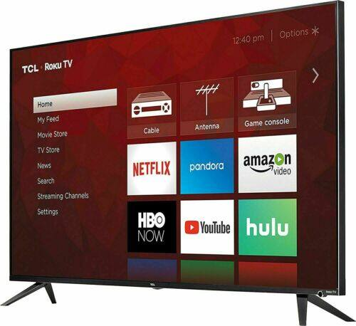 "TCL 55"" 4K Ultra HD Dolby Vision HDR Roku Smart TV - 55R615 (Refub) $297 AC"