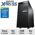 Lenovo ThinkServer TS440 70AQ: Xeon E3-1225V3 w/ 4 GB RAM (no HDD) - 70AQ0009UX $299.99 +S/H @ TigerDirect.com