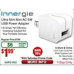 Fry's Sat. 8/15 Email Deals: Innergie AC to USB Wall Charger $1.99 w/FS; Patriot 128GB Blitz USB 3.0 Flash Drive $32.99 w/FS & more @ Frys.com (Email code req'd)