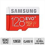 Samsung 128GB MicroSDXC EVO+ Flash Card - With Adapter, Up To 80MB/s Transfer Speed, Class 10, UHS-I - MB-MC128DA/AM $59.99 w/FS @ TigerDirect.com