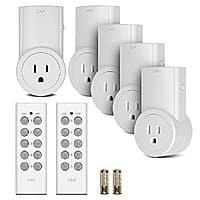 Amazon Deal: Etekcity R/C Outlet Kits: 5Pk $21.50  AC, 3Pk $14-16 AC @ Etekcity via Amazon (prime elig)