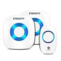 Amazon Deal: Etekcity Wireless Doorbell Kit: (2 Receiver w/1 Transmitter, 1000ft Operating Range, 52 Chimes, 4 Volume Settings and LED Indicators) $19.98 AC @ Etekcity via amazon (prime elig)
