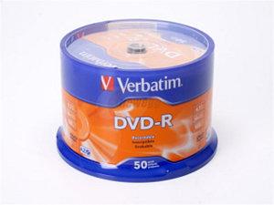 Verbatim 4.7GB 16X DVD-R 50 Packs Spindle Disc with Advanced Azo Recording Dye Model 95101 $7.99 AC w/FS @ newegg.com