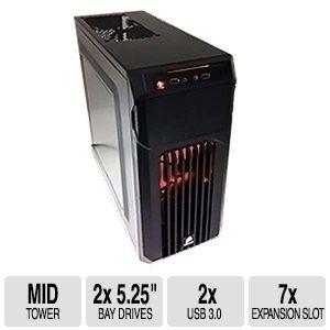PC Cases: Corsair Carbide SPEC-01 Red LED Mid-Tower Case $34.99 AR/AC w/FS; Antec P280 Super Mid Tower Case $49.99 AR w/FS @ TigerDirect.com