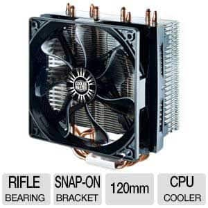 PC Components: Cooler Master Hyper T4 Heatpipe CPU Cooler $14.99 AR w/FS; Thermaltake V2 S Mid Tower w/4GB RAM $39.99 AR + S/H; & more @ TigerDirect.com