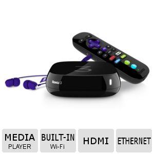 Refurbished - Roku 3 Streaming Media Player w/RC - 4200XB $44.99 AC +S/H @ TigerDirect.com