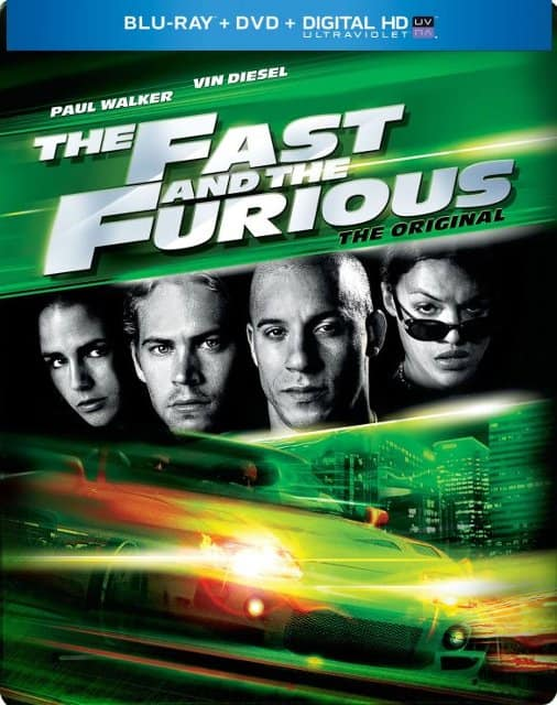 The Fast and the Furious (BD + Digital) Steelbook $7.99, Fast & Furious (BD + Digital) Steelbook $7.99 and more at best buy, walmart, amazon