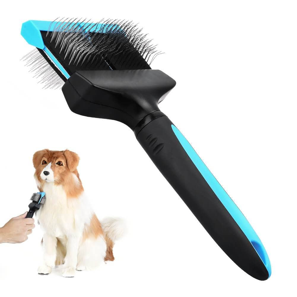 Double Sided Pet Grooming Brush Flexible Pet Pin Brush Double Sided Dog Slicker $5.99 + Free Shipping