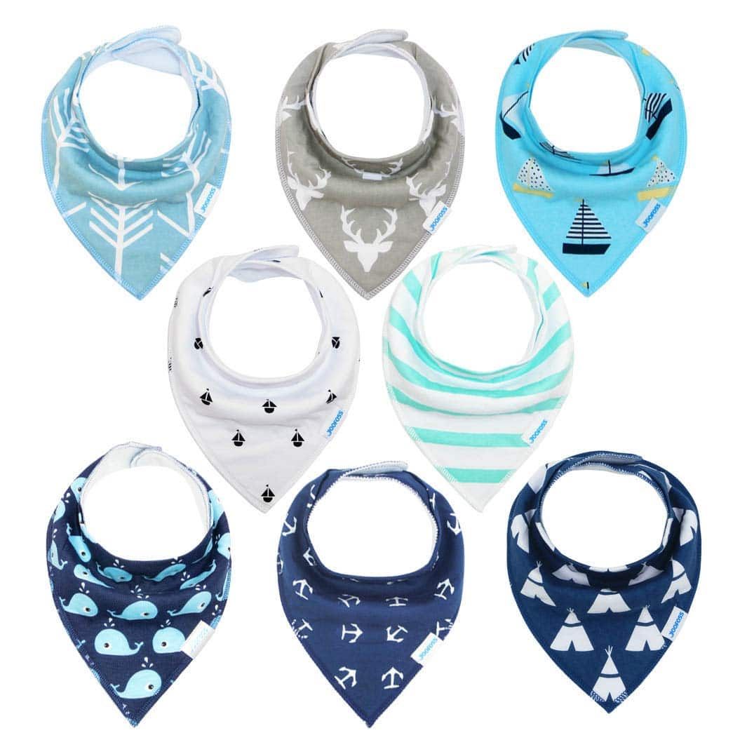 Baby Bibs 8 Pack Soft and Absorbent for Boys & Girls @ Amazon 35% off AC / Free Prime Shipping $9.79