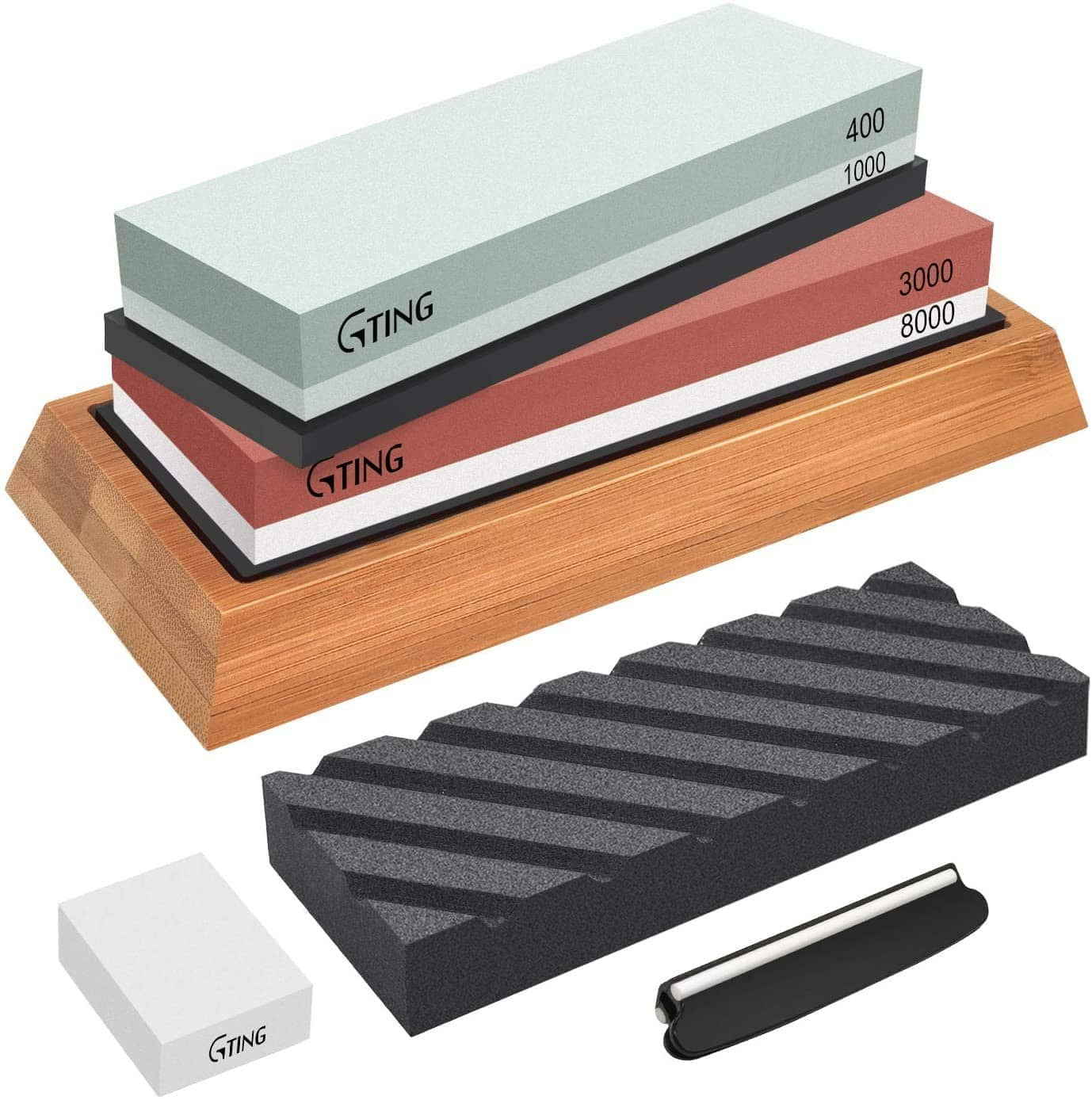 G-TING Knife Sharpening Whetstone Kit  (400/1000 and 3000/8000 Grit) @ Amazon 50% off AC / Free Prime Shipping $19.99