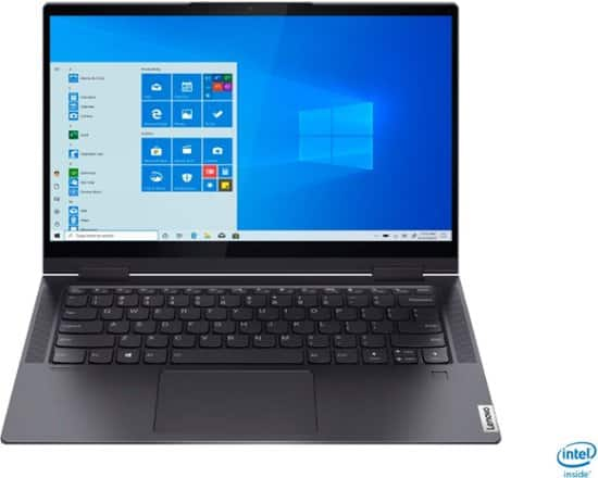 "Lenovo - Yoga 7i 2-in-1 14"" Touch Screen Laptop - Intel Evo Platform Core i7 - 12GB Memory - 512GB Solid State Drive - Slate Grey $779.99"