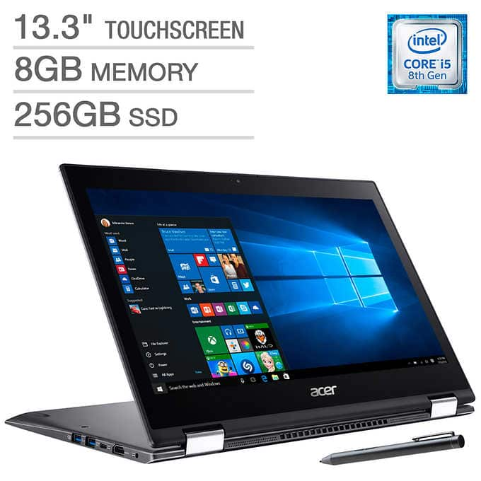 "Acer Spin 5 2-in-1 Laptop: I5-8250U, 13.3"" 1080p IPS"
