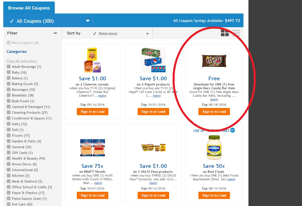 Kroger ~ ONE (1) free single Mars Candy Bar item ~ Coupon expires 08/18/16 (not sure when it will stop being available)