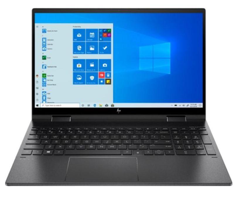 "HP - ENVY x360 2-in-1 15.6"" Touch-Screen Laptop - AMD Ryzen 5 - 8GB Memory - 256GB SSD - Nightfall Black $550"