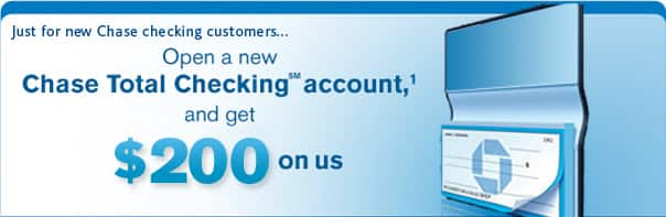 $200 Free from Chase for New Checking account- No Direct Deposit needed