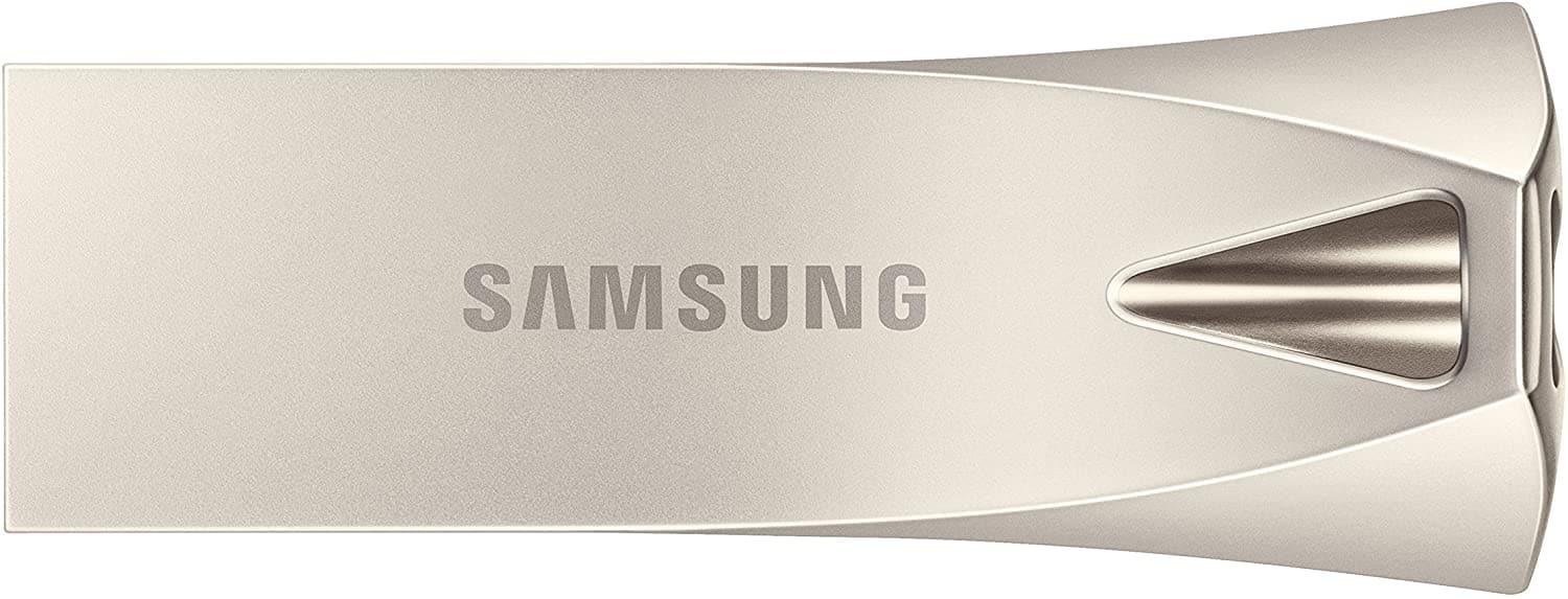 Samsung BAR Plus 128GB - 300MB/s USB 3.1 Flash Drive Champagne Silver (MUF-128BE3/AM) $19.99
