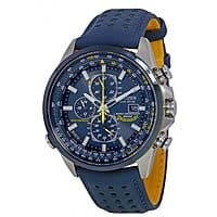 JomaShop Deal: $269 CITIZEN Eco Drive Blue Angels World Chronograph Blue Leather Men's Watch AT8020-03L (looks stunning, really!,check picture on web site)
