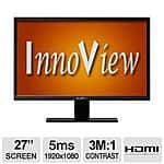 "Innoview I27LMH1 27"" LED LCD Monitor $139.99 After Rebate"